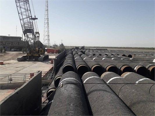 عملیات پوششدهی خطوط لوله دریایی پایانه نفتی جاسک تکمیل شد