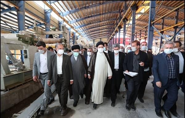 رئیس جمهور از کارخانه کاغذ سازی زرقان بازدید کرد